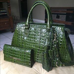 Brahmin Arden Bag & Wallet SO NICE Croc La Scala